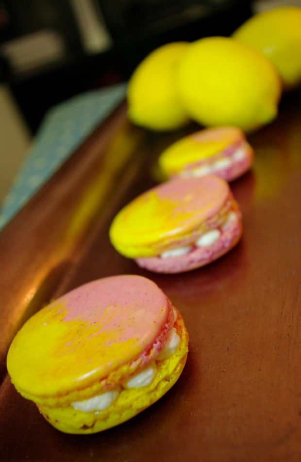 macarons framboise chantilly citron