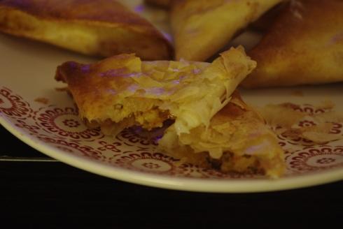 samoussas chèvre miel épices