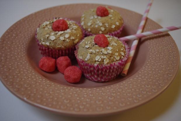 muffins flocons d'avoine fraise tagada