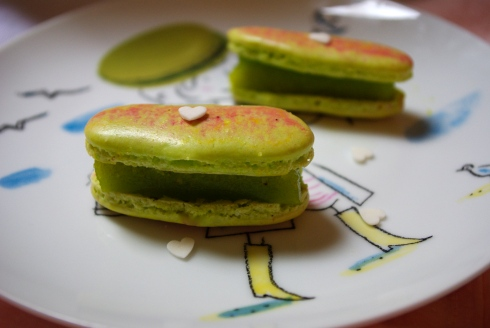 macarons gelée citron vert gingembre