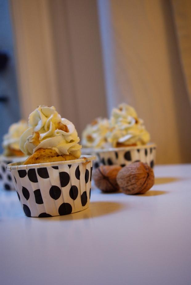 cupcake bleu noix
