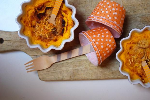 flans carottes et moutarde