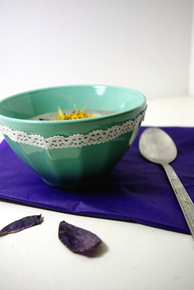 Soupe vitelotte poireaux