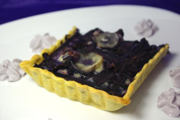 tarte violette canard mousse myrtille