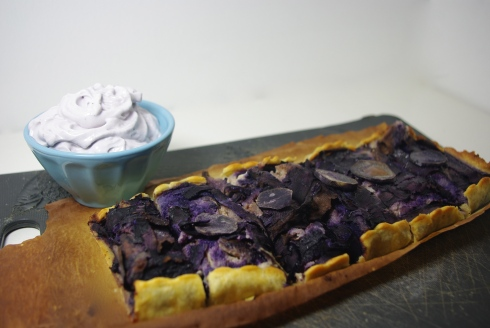 tarte violette canard mousse de myrtille