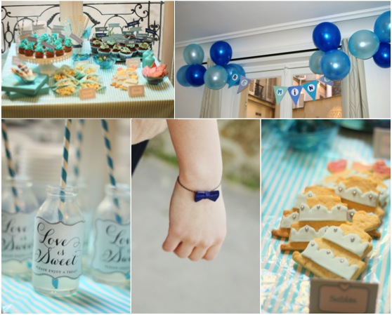sweet table bleue