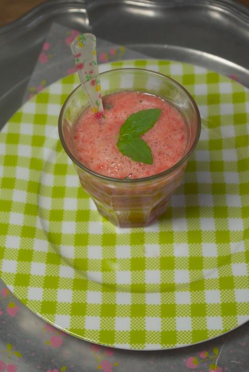 smoothie fraise basilic