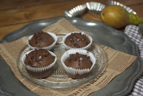 muffins chocolat poires sirop d'érable