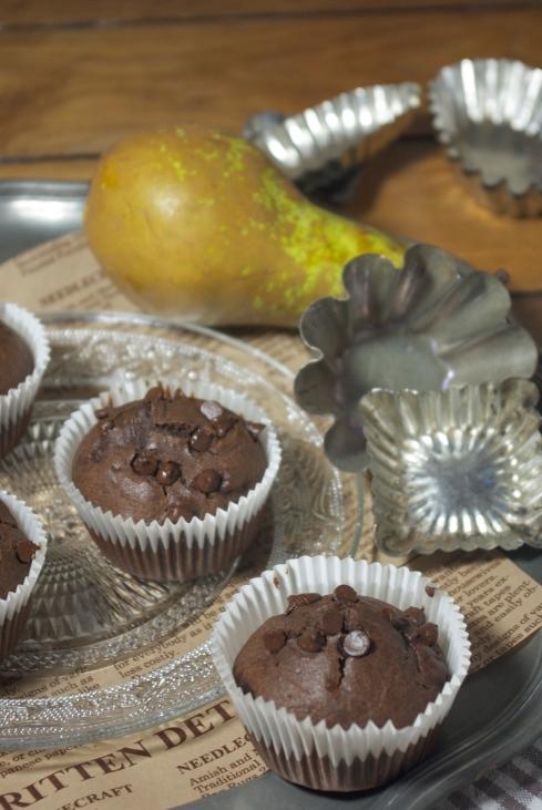 muffins chocolat poire sirop d'érable