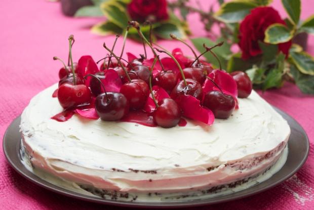 gâteau chocolat et cerises