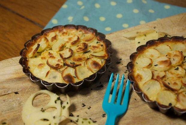 tartelettes pommes de terre noirmoutier thon wakamé