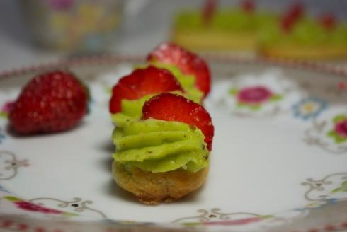 éclairs pistache fraise