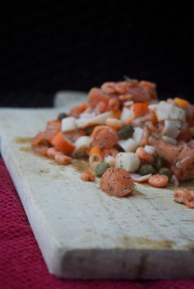 tartare rose de la mer