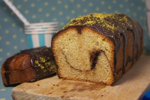 cake chocolat noisettes pistache