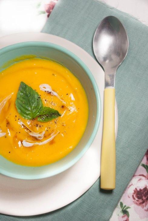 soupe potimarron basilic