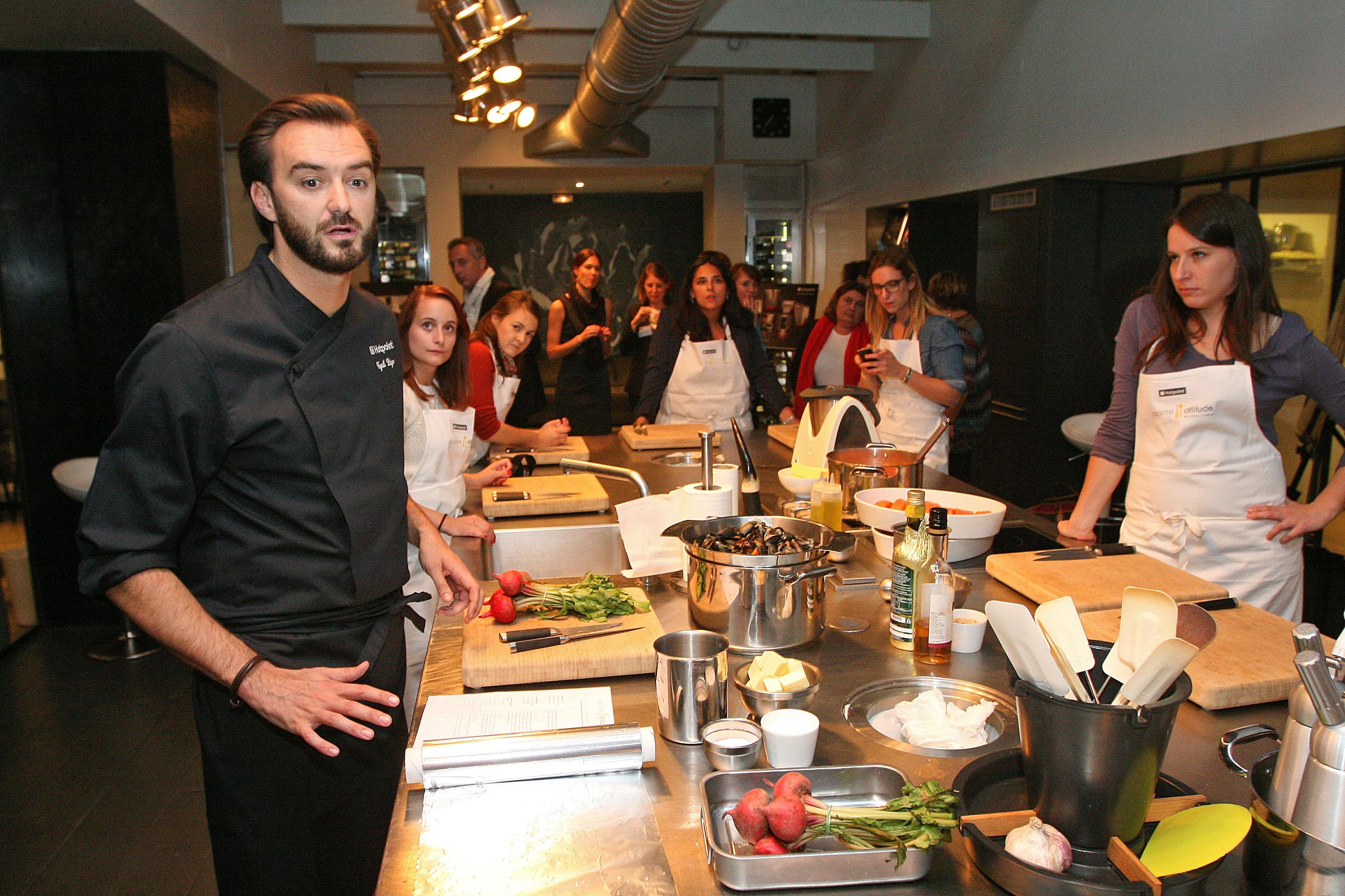 Une Soirée Avec Cyril Lignac Et HotPoint - Cours de cuisine paris cyril lignac