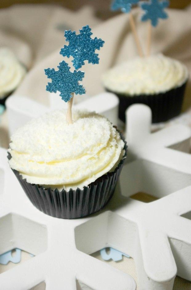 cupcakes noël flocons