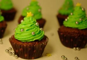 cupcakes sapins