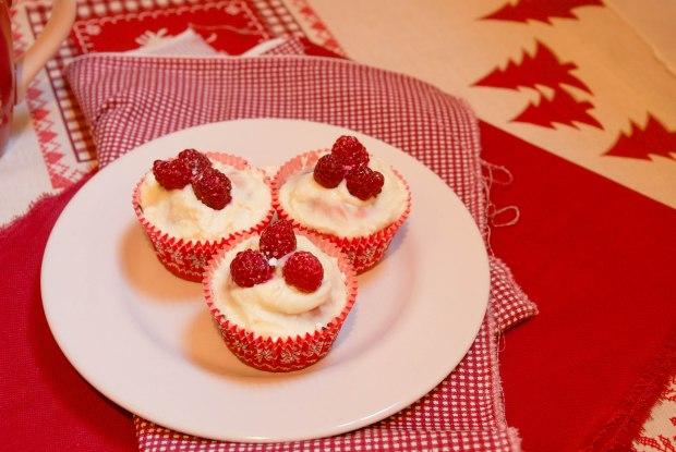 cupcake noel framboise
