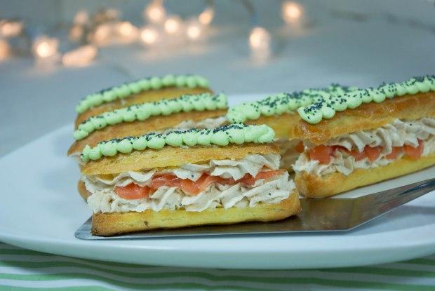 éclairs saumon wasabi