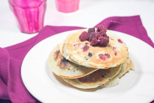 pancakes fruits rouges