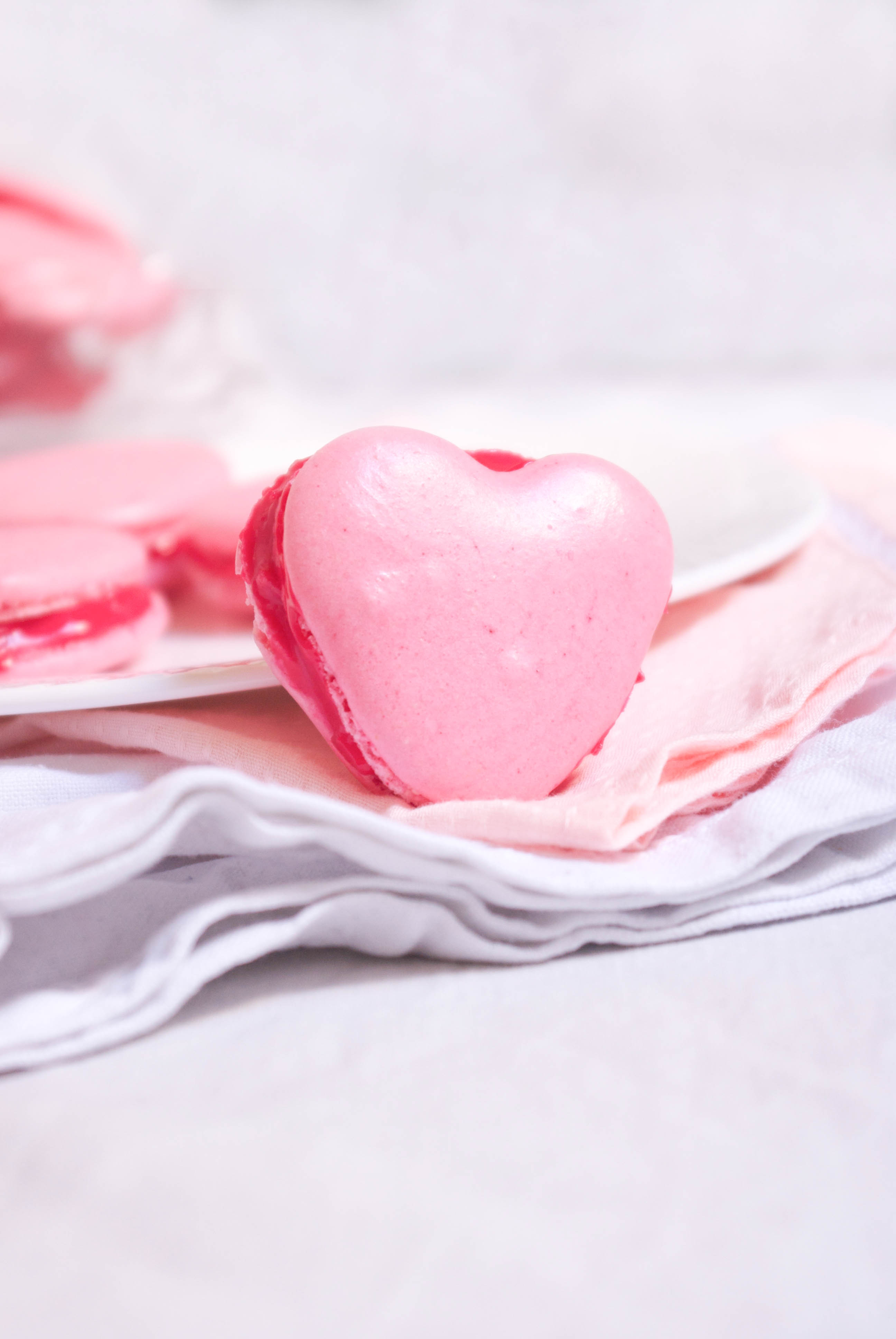 macarons coeur – saint valentin