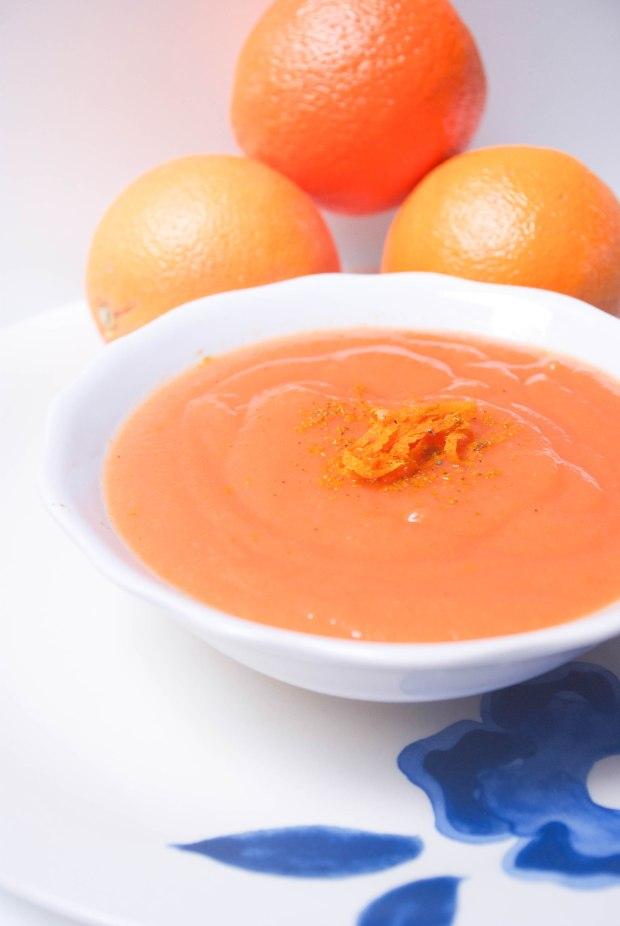 soupe carotte curry orange
