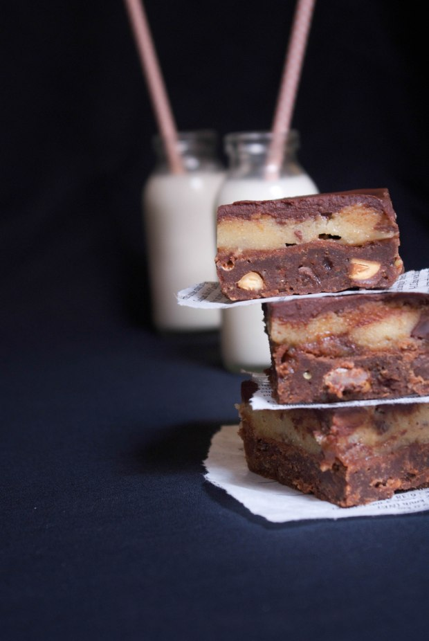 brownie chocolat cookie dough