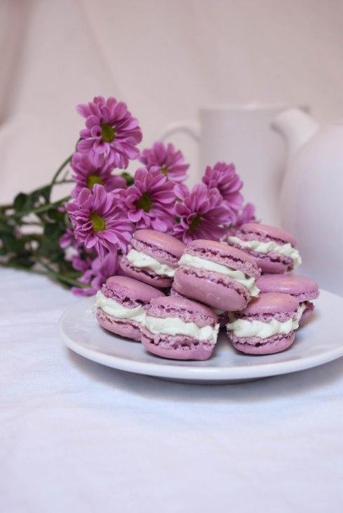 macarons framboises pistache