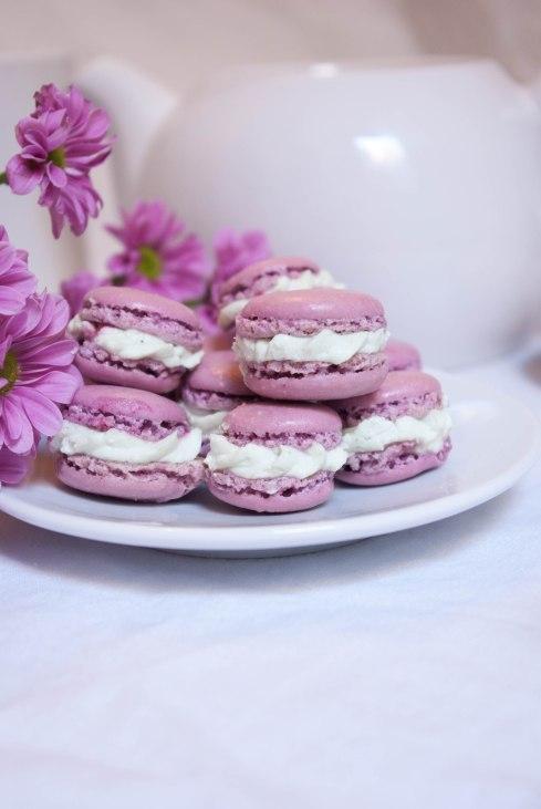 macarons pistache framboises
