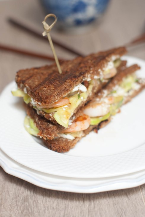 sandwich crevettes wasabi courgettes