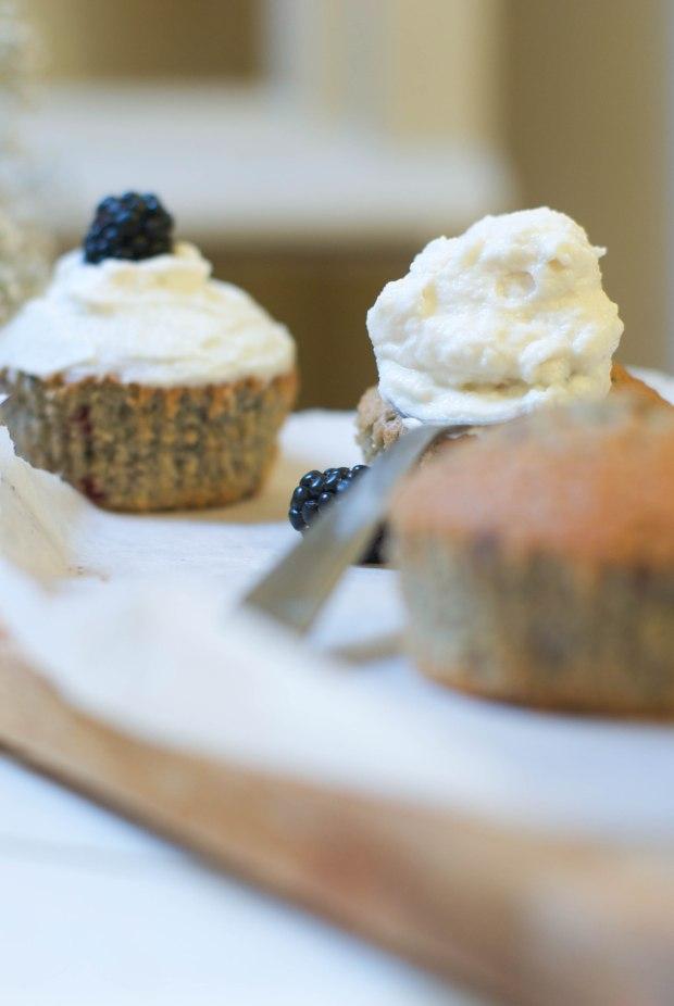 muffins mûres ricotta
