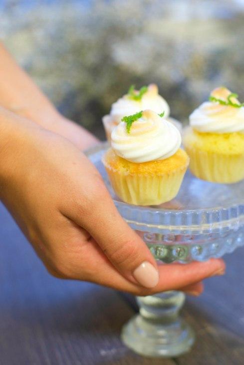 cupcakes citron vert meringués