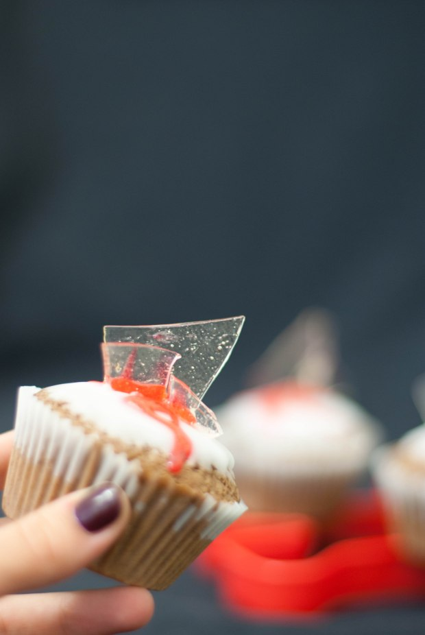 cupcakes broken glass verre brisé