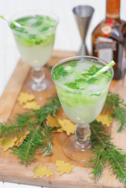 cocktail de noël vert marineiscooking