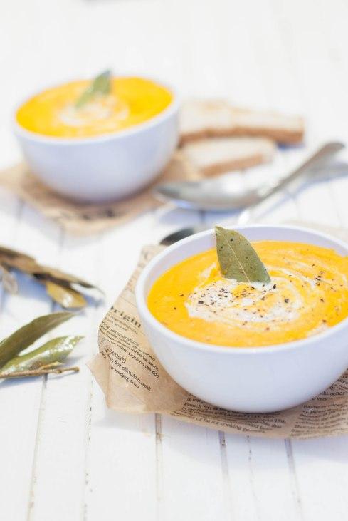 soupe légume grillés