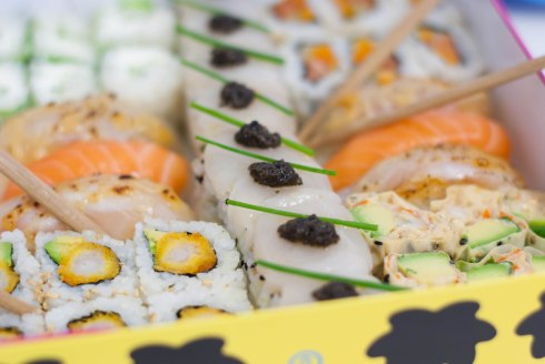 box LA sushi shop