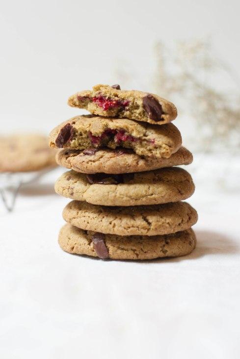 cookies chocolat matcha framboises-6102