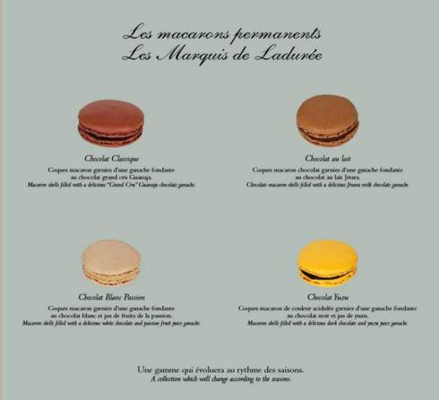 macarons marquis ladurée