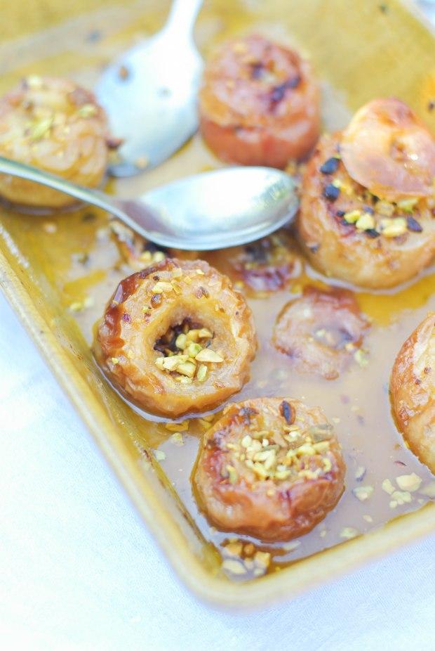 pommes au four éclats de pistache -1
