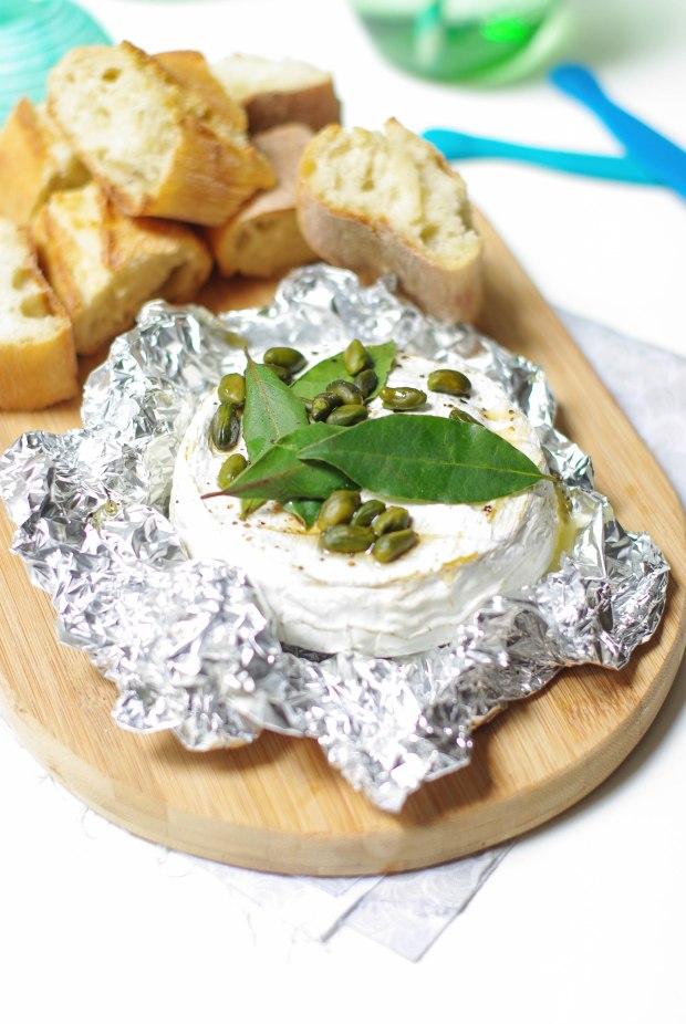 recette camembert miel pistaches laurier