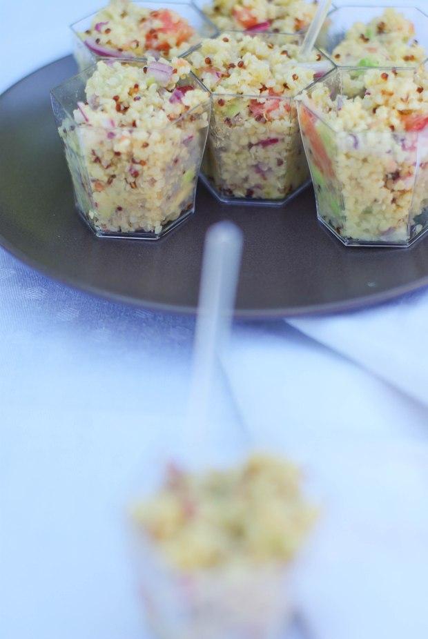 salade quinoa pamplemousse avocat oignon rouge