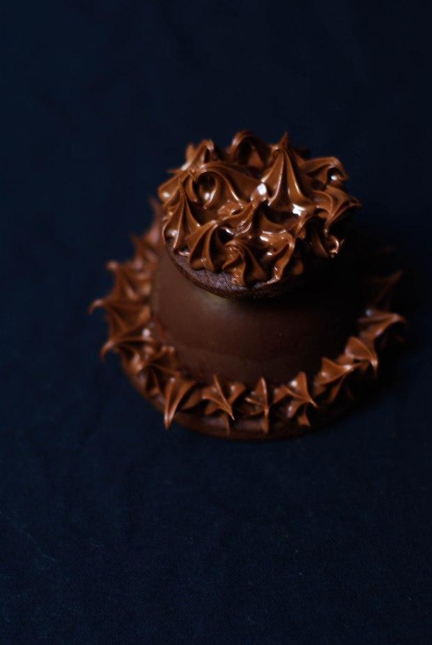 boule noel chocolat caramel