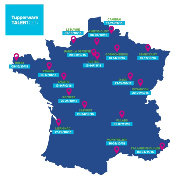 carte de France-tupperware