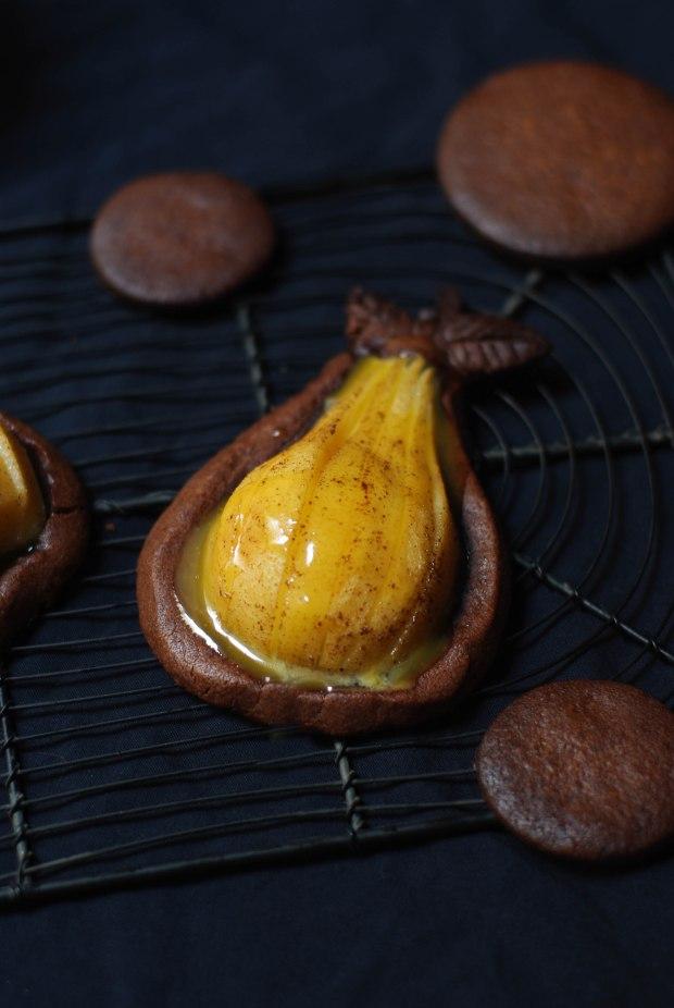 tartelette poire chocolat caramel beurre sale-11
