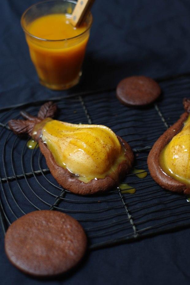 tartelette poire chocolat caramel beurre sale-4