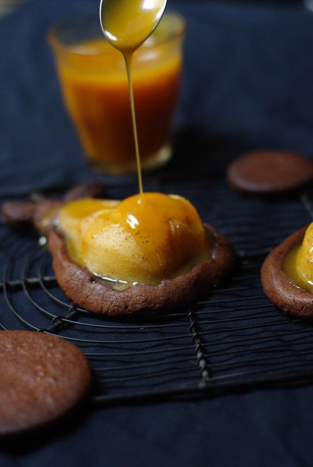 tartelette poire chocolat caramel beurre sale-6