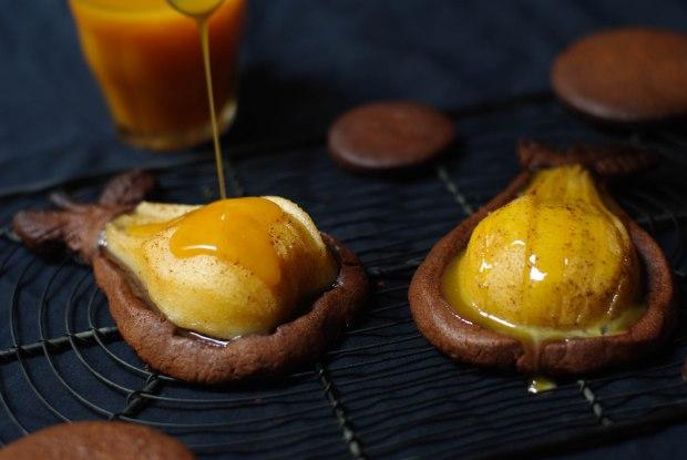 tartelette poire chocolat caramel beurre sale-8