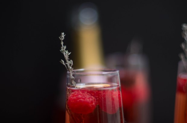 cocktail champagne rose noel-5