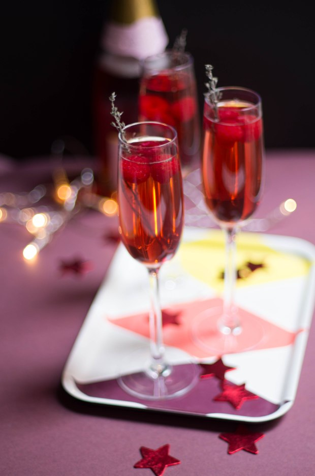 cocktail champagne rose noel